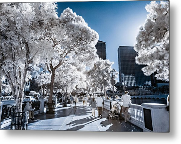 Las Vegas Strip In Infrared 1 Metal Print