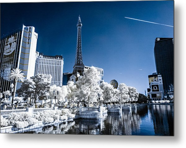 Las Vegas Strip In Infrared 2 Metal Print