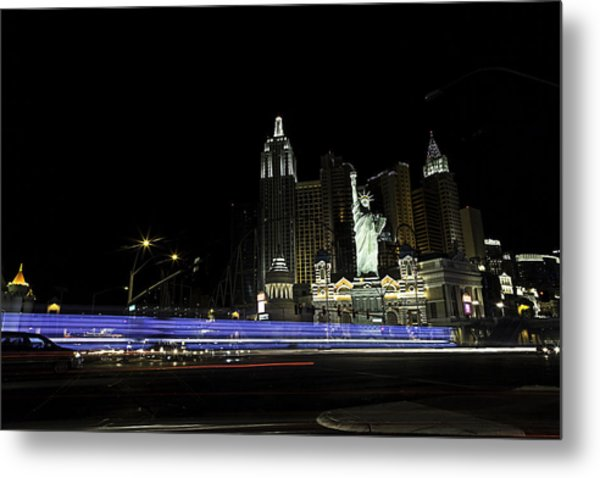 Las Vegas Traffic 2 Metal Print