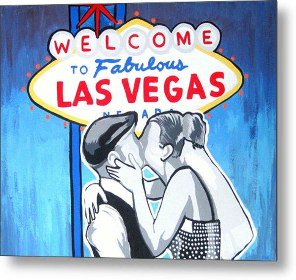 Las Vegas Wedding Metal Print by Gary Niles