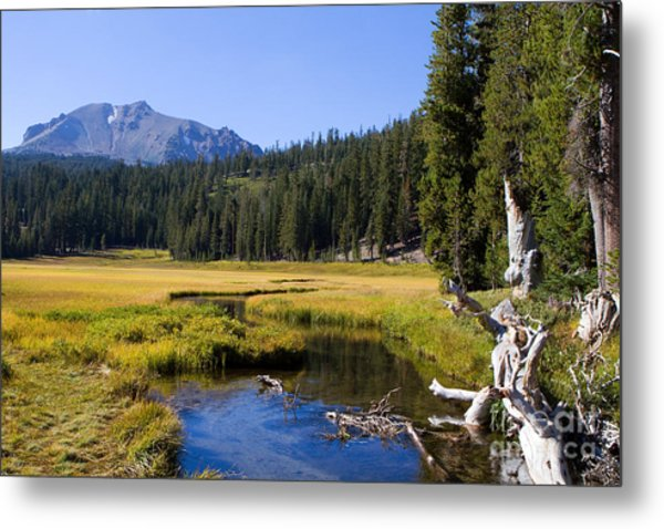 Lassen Mountain Stream Metal Print