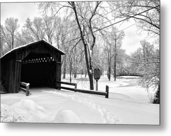 Last Covered Bridge Metal Print