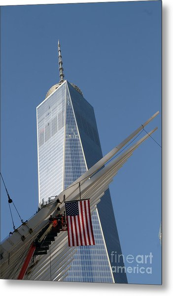 Last Large Wtc Oculus Rafter Raised Three Metal Print