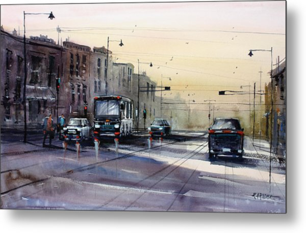 Last Light - College Ave. Metal Print