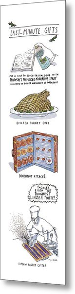 Last-minute Gifts Put A Stop To Sluggish Dialogue Metal Print