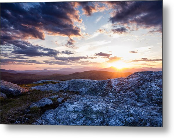 Metal Print featuring the photograph Last Rays. Sunset On Foss Mountain. by Jeff Sinon