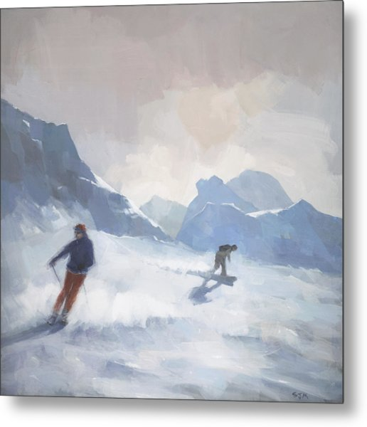 Last Run Les Arcs Metal Print