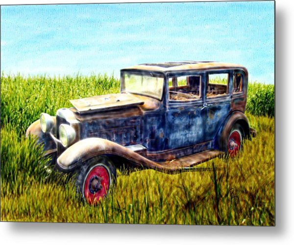 Last Tour For An Old Ford Touring Car Metal Print