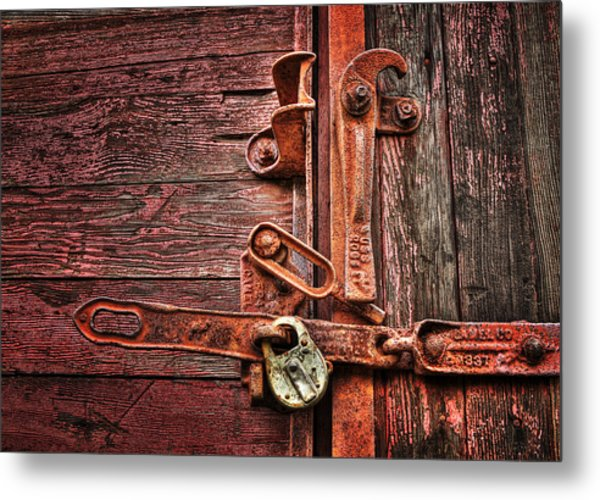 Latch Metal Print