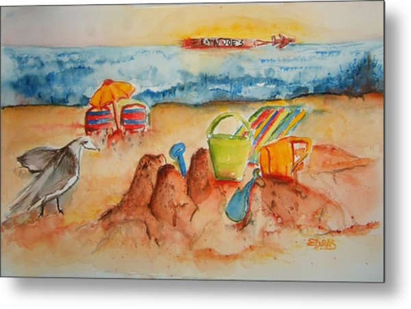 Late Afternoon Beach Metal Print