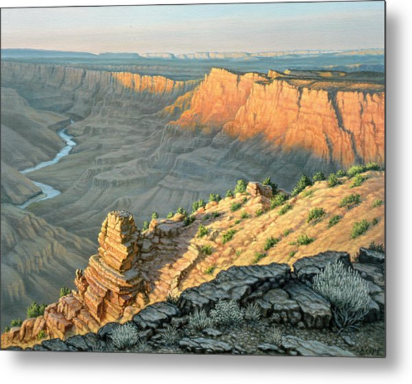 Late Afternoon-desert View Metal Print