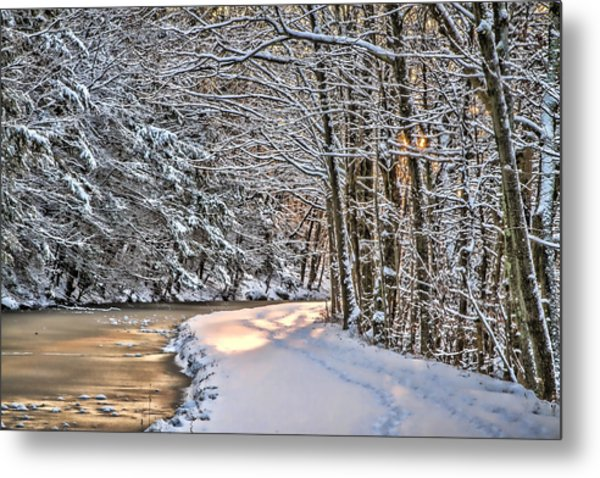 Late Afternoon In The Snow Metal Print