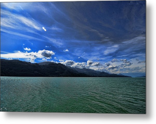 Late Afternoon On Harrison Lake Bc Metal Print