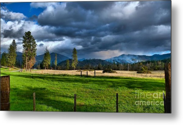 Late Afternoon Weather Metal Print