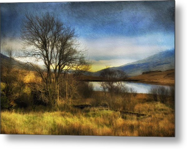 Snowdonia Autumn Lake Metal Print