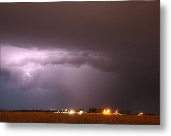 Metal Print featuring the photograph Late Evening Nebraska Thunderstorm by NebraskaSC