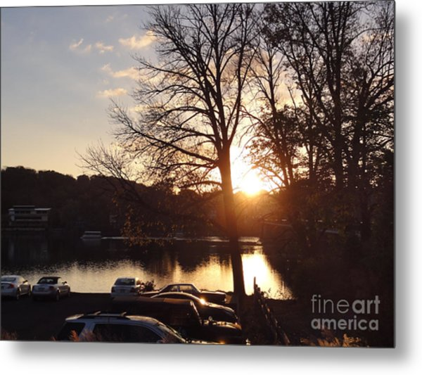 Late Fall At The Station Metal Print