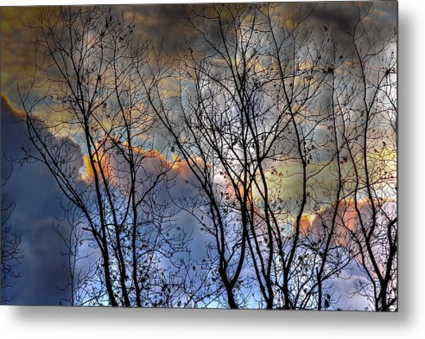 Late Fall Sunrise Metal Print