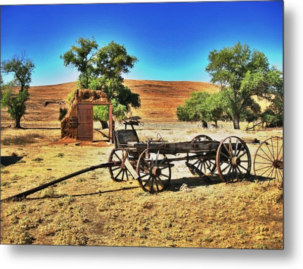 Late For Market Metal Print