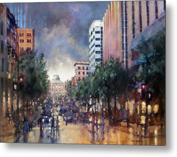 Late Friday Afternoon Showers Metal Print