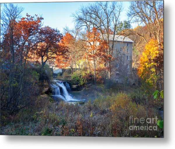 Late October At Pickwick Mill Metal Print