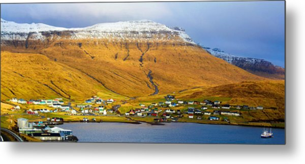 Late Spring In Faroe Islands Panorama Metal Print