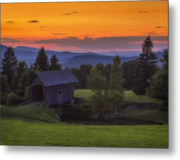 Late Summer Sunset Metal Print