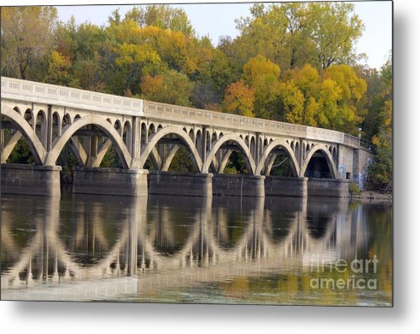 Metal Print featuring the photograph Latsch Island Wagon Bridge by Kari Yearous