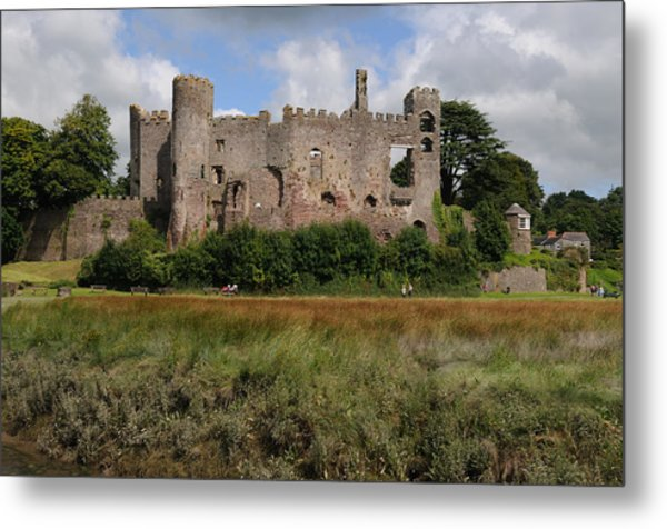 Laugharne Castle Metal Print