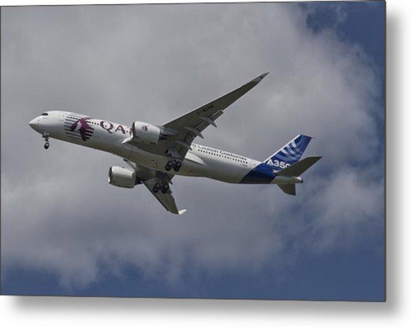 Launching Airbus A350 Metal Print