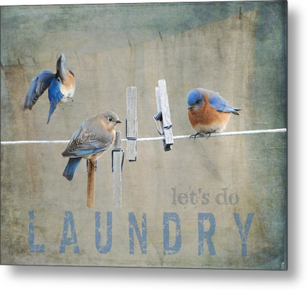 Laundry Day - Lets Do Laundry Metal Print