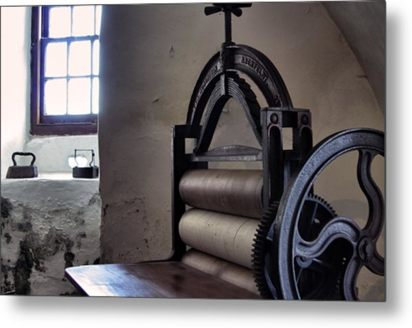 Laundry Press Metal Print