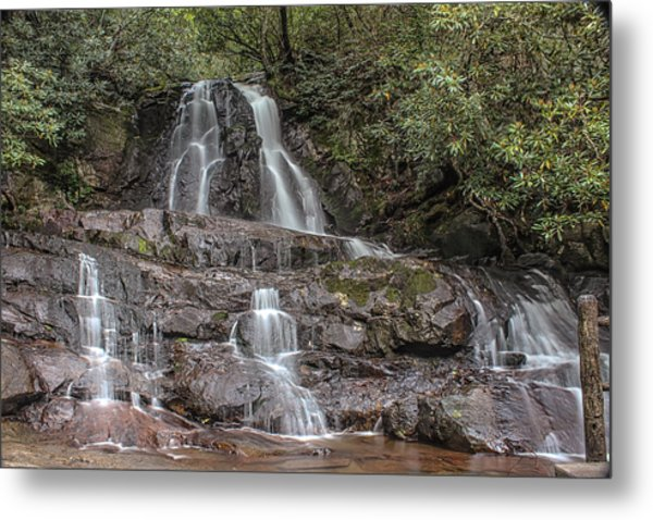 Laurel Falls - Great Smoky Mountains National Park Metal Print