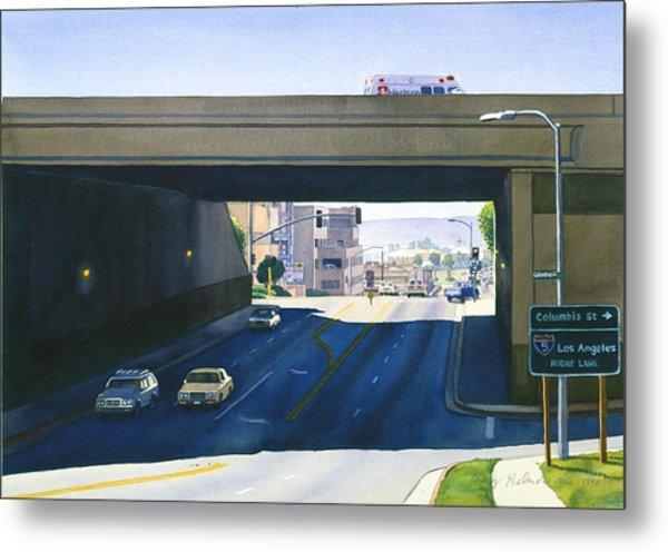 Laurel Street Bridge San Diego Metal Print by Mary Helmreich