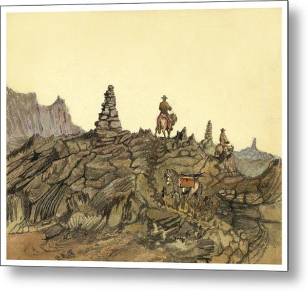 Lava Fields In Iceland Circa 1862 Metal Print