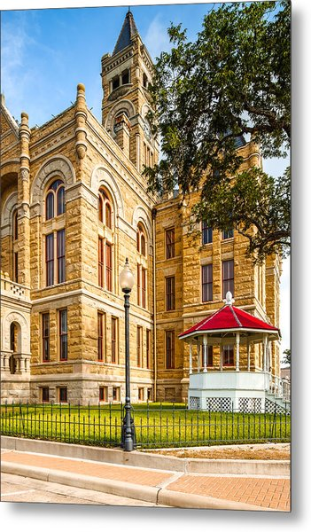 Lavaca County Courthouse - Hallettsville Texas Metal Print