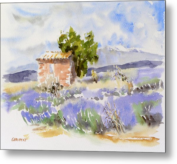 Lavender Fields In Provence Painting By Godo Riekert