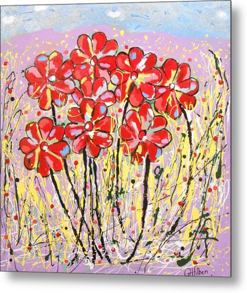 Lavender Flower Garden Metal Print