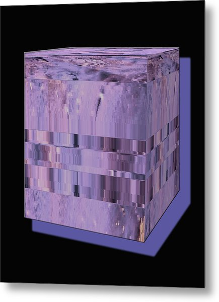 Lavender Light Box Metal Print by Colleen Cannon