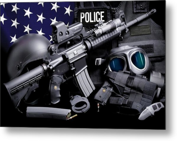 Law Enforcement Tactical Police Metal Print