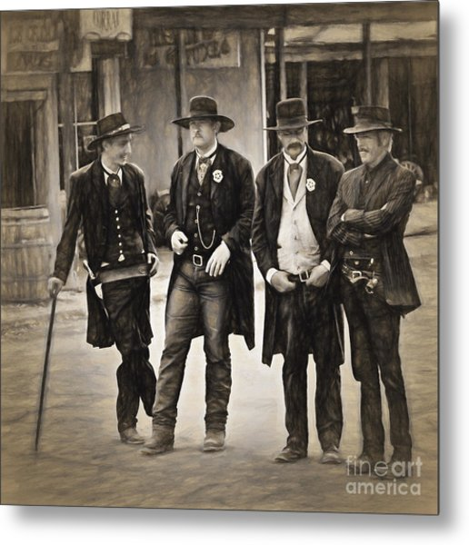 Lawmen And Armed Citizens  ... Metal Print
