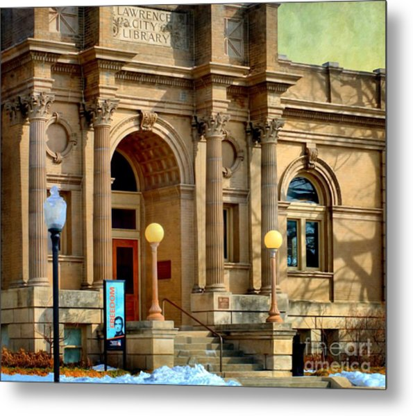 Lawrence City Library Metal Print