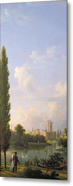 Laxenburg Castle, Near Vienna, 1810 Oil On Canvas Metal Print
