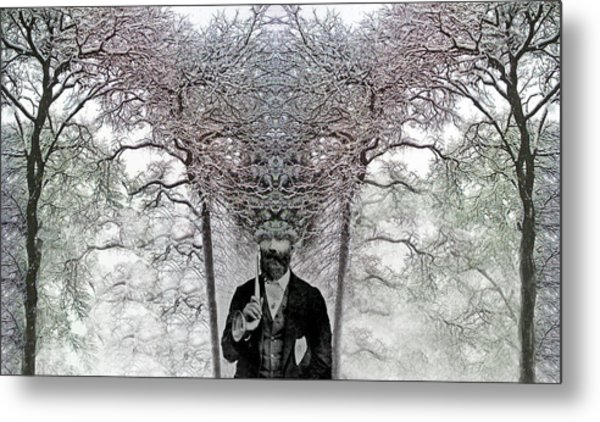 Layers Of Thought  C2014 Metal Print