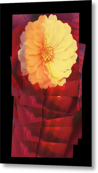 Layers Of Yellow Flower Metal Print by Susan Stone