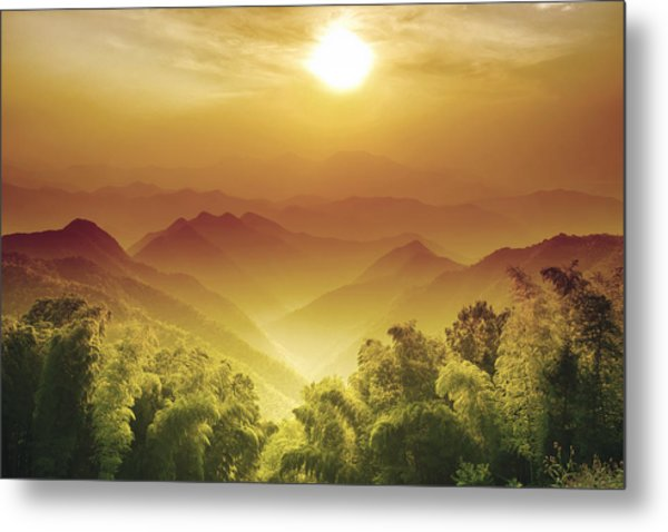 Layers Of Zhejiang (china) Metal Print by Andy Brandl