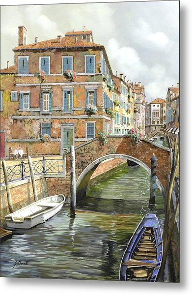 Le Barche Sotto Il Ponte Metal Print
