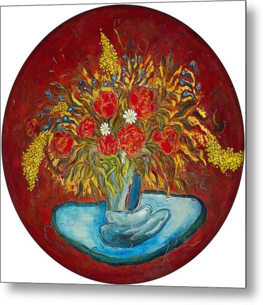Le Bouquet Rouge - Original For Sale Metal Print by Bernard RENOT