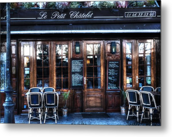 Le Petit Chatelet Paris France Metal Print