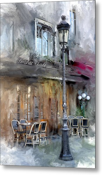 Le Petit Paris Metal Print